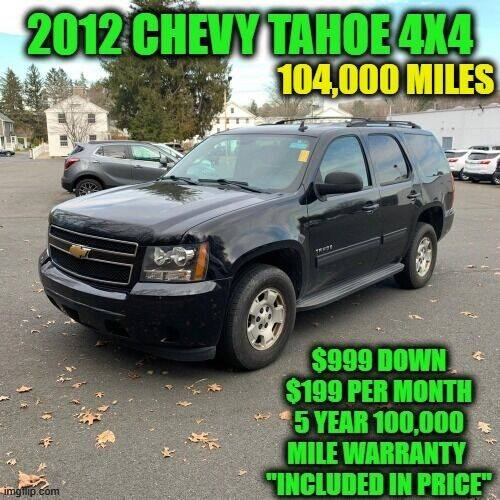 2012 Chevrolet Tahoe for sale at D&D Auto Sales, LLC in Rowley MA