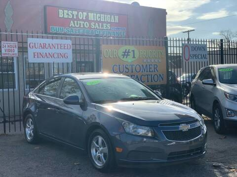 2013 Chevrolet Cruze for sale at Best of Michigan Auto Sales in Detroit MI