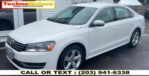 2013 Volkswagen Passat for sale at Techno Motors in Danbury CT