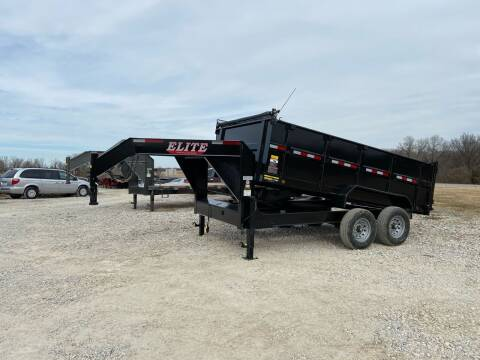 """2021 Elite 83""""x14' Gooseneck 36"""" Sides for sale at Ken's Auto Sales & Repairs in New Bloomfield MO"""