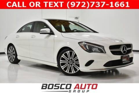 2018 Mercedes-Benz CLA for sale at Bosco Auto Group in Flower Mound TX