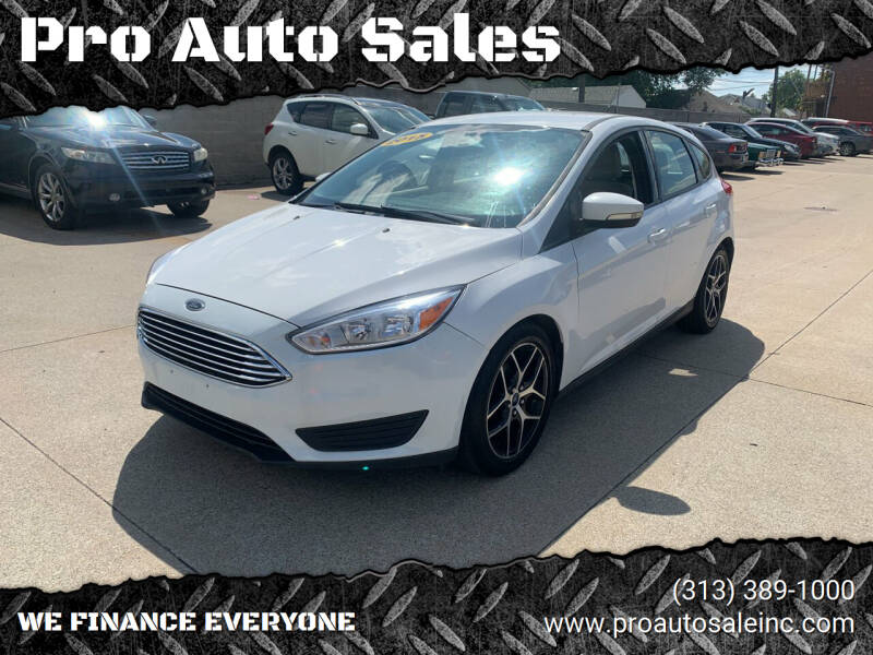 2015 Ford Focus for sale at Pro Auto Sales in Lincoln Park MI