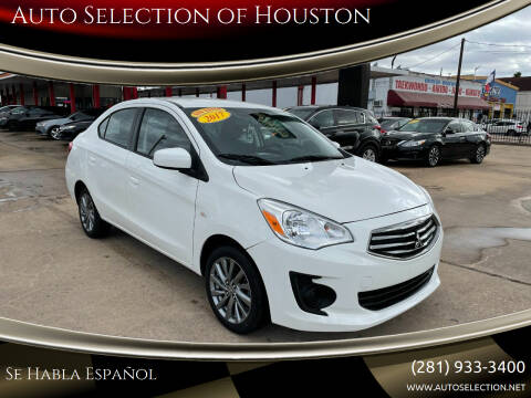 2017 Mitsubishi Mirage G4 for sale at Auto Selection of Houston in Houston TX