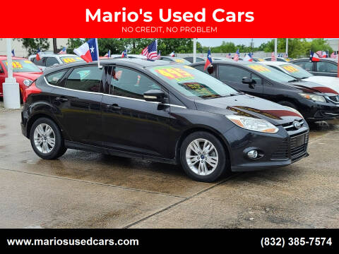 2012 Ford Focus for sale at Mario's Used Cars in Houston TX