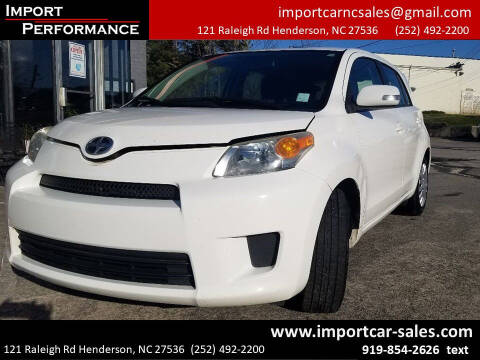 2010 Scion xD for sale at Import Performance Sales - Henderson in Henderson NC