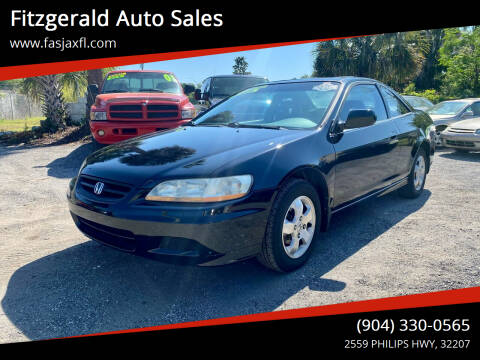 2002 Honda Accord for sale at Fitzgerald Auto Sales in Jacksonville FL
