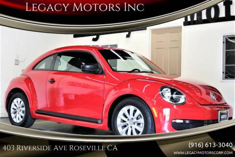 2016 Volkswagen Beetle for sale at Legacy Motors Inc in Roseville CA