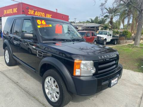 2006 Land Rover LR3 for sale at 3K Auto in Escondido CA