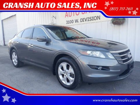 2010 Honda Accord Crosstour for sale at CRANSH AUTO SALES, INC in Arlington TX