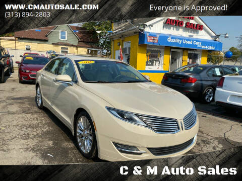 2014 Lincoln MKZ for sale at C & M Auto Sales in Detroit MI