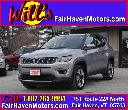 2020 Jeep Compass for sale at Will's Fair Haven Motors in Fair Haven VT