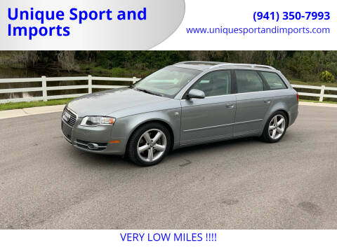 2007 Audi A4 for sale at Unique Sport and Imports in Sarasota FL