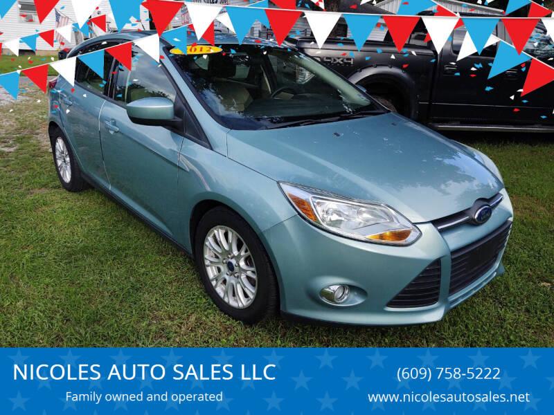 2012 Ford Focus for sale at NICOLES AUTO SALES LLC in Cream Ridge NJ