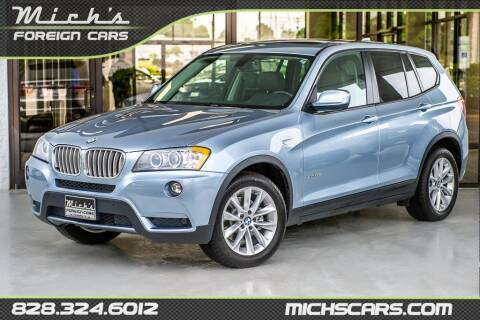 2013 BMW X3 for sale at Mich's Foreign Cars in Hickory NC