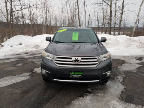 2011 Toyota Highlander for sale at L & R Motors in Greene ME