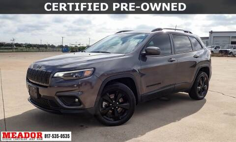 2020 Jeep Cherokee for sale at Meador Dodge Chrysler Jeep RAM in Fort Worth TX