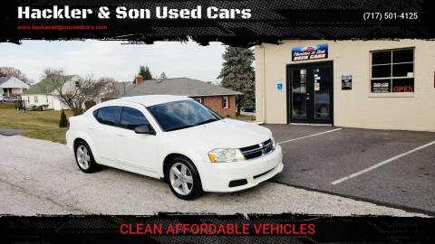2013 Dodge Avenger for sale at Hackler & Son Used Cars in Red Lion PA