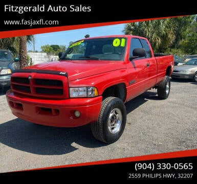 2001 Dodge Ram Pickup 2500 for sale at Fitzgerald Auto Sales in Jacksonville FL