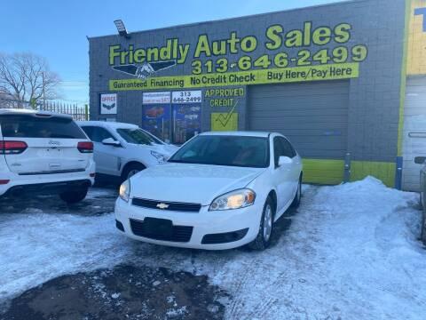 2010 Chevrolet Impala for sale at Friendly Auto Sales in Detroit MI