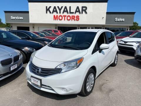 2015 Nissan Versa Note for sale at KAYALAR MOTORS in Houston TX