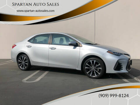 2017 Toyota Corolla for sale at Spartan Auto Sales in Upland CA