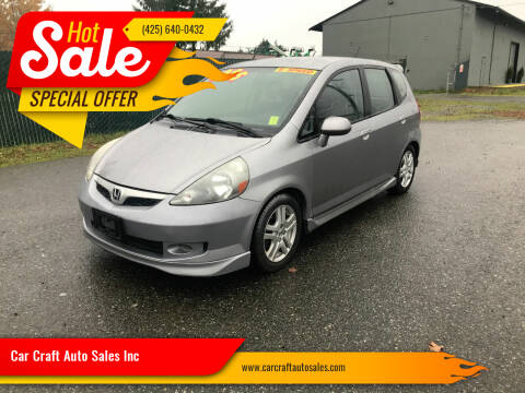 2007 Honda Fit for sale at Car Craft Auto Sales Inc in Lynnwood WA