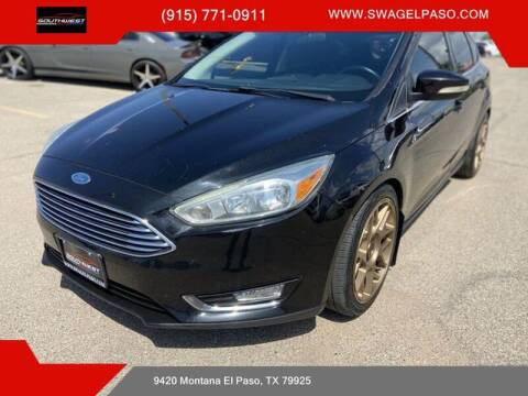 2015 Ford Focus for sale at SOUTHWEST AUTO GROUP-EL PASO in El Paso TX