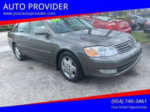 2004 Toyota Avalon for sale at AUTO PROVIDER in Fort Lauderdale FL