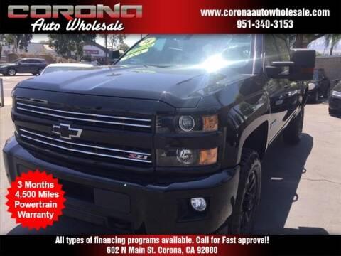 2016 Chevrolet Silverado 2500HD for sale at Corona Auto Wholesale in Corona CA