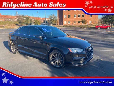 2015 Audi A3 for sale at Ridgeline Auto Sales in Saint George UT