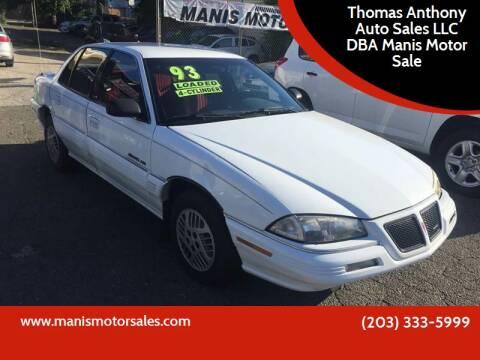 1993 Pontiac Grand Am for sale at Thomas Anthony Auto Sales LLC DBA Manis Motor Sale in Bridgeport CT