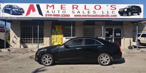 2013 Cadillac ATS for sale at Merlo's Auto Sales LLC in San Antonio TX