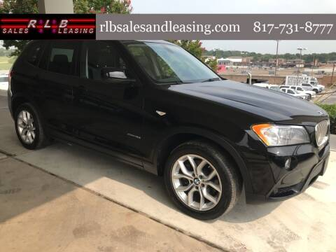 2013 BMW X3 for sale at RLB Sales and Leasing in Fort Worth TX