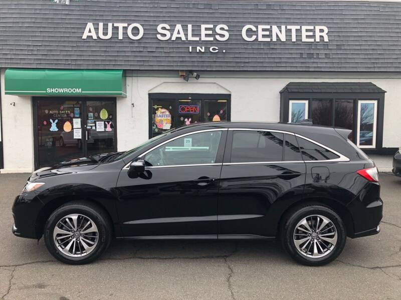 2018 Acura RDX for sale at Auto Sales Center Inc in Holyoke MA