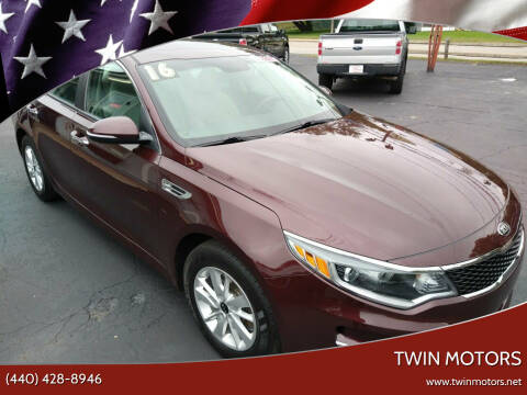 2016 Kia Optima for sale at TWIN MOTORS in Madison OH