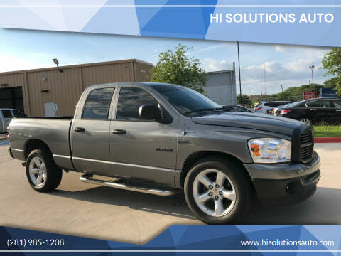 2008 Dodge Ram Pickup 1500 for sale at HI SOLUTIONS AUTO in Houston TX
