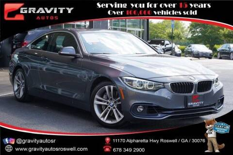 2018 BMW 4 Series for sale at Gravity Autos Roswell in Roswell GA