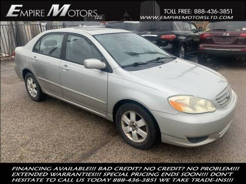 2003 Toyota Corolla for sale at Empire Motors LTD in Cleveland OH