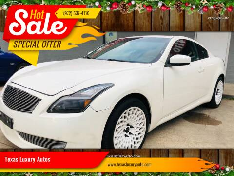 2010 Infiniti G37 Coupe for sale at Texas Luxury Auto in Cedar Hill TX