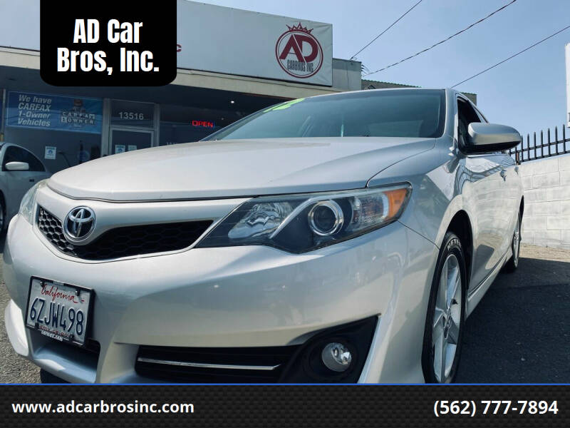 2012 Toyota Camry for sale at AD Car Bros, Inc. in Whittier CA