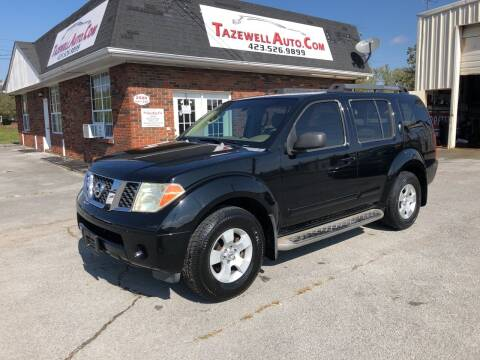 2006 Nissan Pathfinder for sale at tazewellauto.com in Tazewell TN