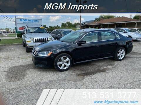 2013 Volkswagen Passat for sale at MGM Imports in Cincinnati OH