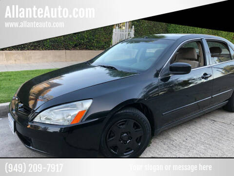 2005 Honda Accord for sale at AllanteAuto.com in Santa Ana CA