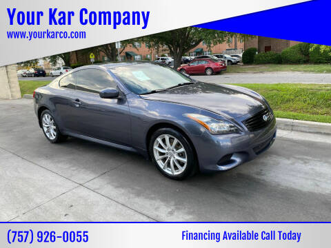 2014 Infiniti Q60 Coupe for sale at Your Kar Company in Norfolk VA