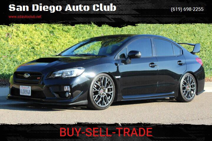 2015 Subaru WRX for sale at San Diego Auto Club in Spring Valley CA