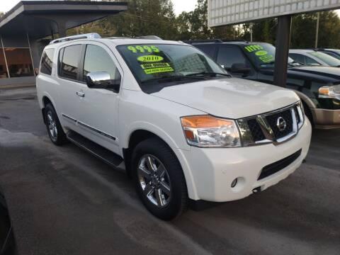 2010 Nissan Armada for sale at DON BAILEY AUTO SALES in Phenix City AL