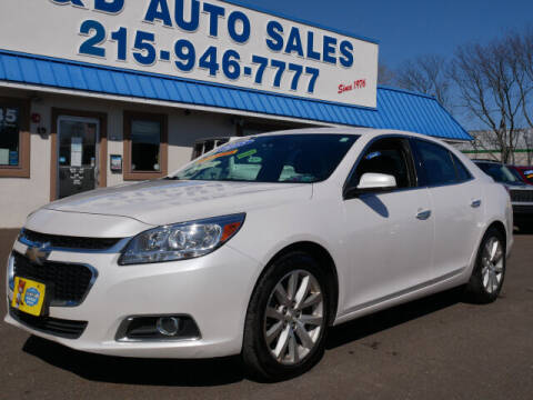 2015 Chevrolet Malibu for sale at B & D Auto Sales Inc. in Fairless Hills PA