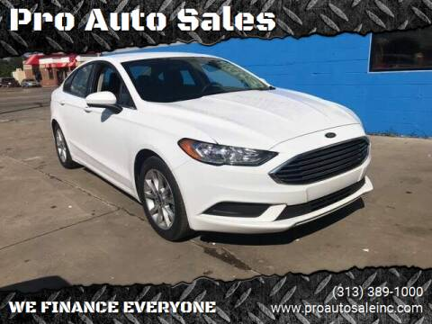 2017 Ford Fusion for sale at Pro Auto Sales in Lincoln Park MI