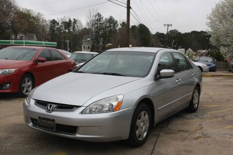 2005 Honda Accord for sale at GTI Auto Exchange in Durham NC