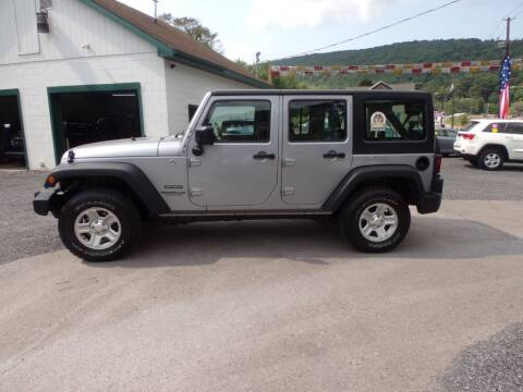 2015 Jeep Wrangler Unlimited for sale at RJ McGlynn Auto Exchange in West Nanticoke PA